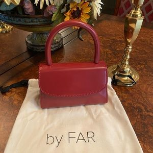 By Far Mini Bag Red Semi Patent Leather